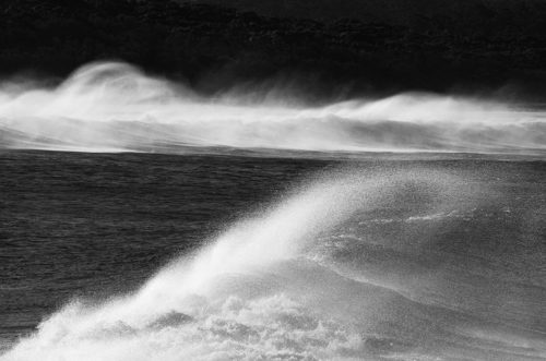 Bunga big swell, windy day - Roger Stuart
